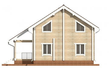 Фото #9: деревянный дом ПДБ-27 из клееного бруса купить за 8343000 (цена «Под ключ»)