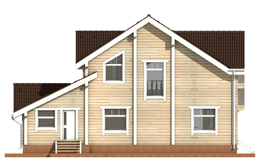 Фото #8: деревянный дом ПДБ-28 из клееного бруса купить за 10822000 (цена «Под ключ»)