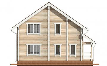 Фото #9: деревянный дом ПДБ-3 из клееного бруса купить за 9321000 (цена «Под ключ»)