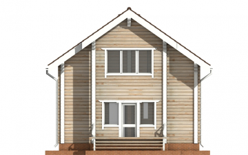 Фото #9: деревянный дом ПДБ-32 из клееного бруса купить за 6195000 (цена «Под ключ»)
