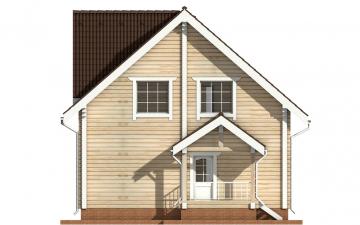 Фото #9: деревянный дом ПДБ-4 из клееного бруса купить за 10471000 (цена «Под ключ»)