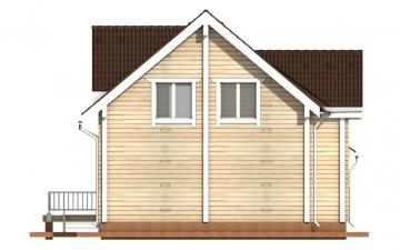 Фото #9: деревянный дом ПДБ-6 из клееного бруса купить за 10588000 (цена «Под ключ»)