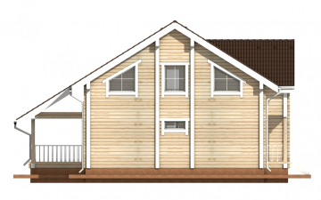 Фото #9: деревянный дом ПДБ-8 из клееного бруса купить за 11035000 (цена «Под ключ»)