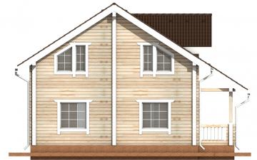 Фото #9: деревянный дом ПДБ-9 из клееного бруса купить за 10234000 (цена «Под ключ»)