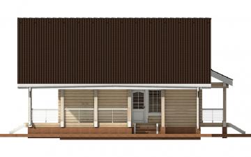 Фото #10: деревянный дом ПДБ-10 из клееного бруса купить за 10753000 (цена «Под ключ»)