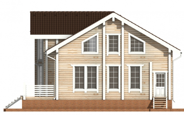 Фото #10: деревянный дом ПДБ-11 из клееного бруса купить за 11765000 (цена «Под ключ»)