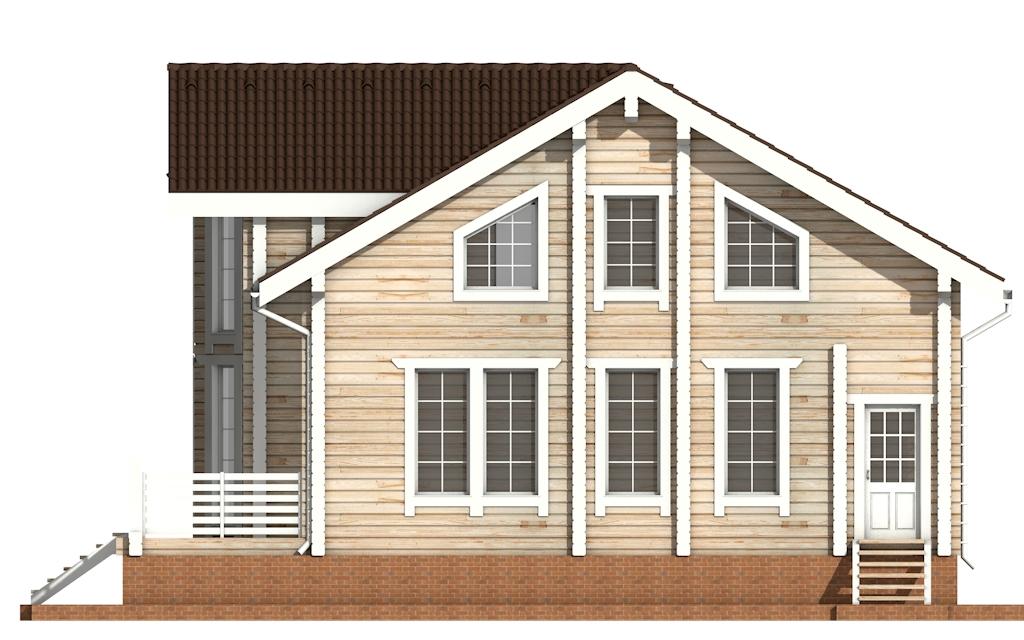 Фото #9: деревянный дом ПДБ-11 из клееного бруса купить за 11765000 (цена «Под ключ»)