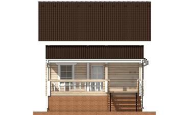Фото #10: деревянный дом ПДБ-12 из клееного бруса купить за 6294000 (цена «Под ключ»)