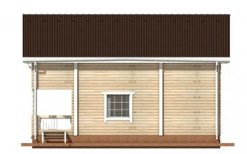 Фото #10: деревянный дом ПДБ-13 из клееного бруса купить за 8773000 (цена «Под ключ»)