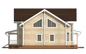 Фото #10: деревянный дом ПДБ-14 из клееного бруса купить за 13633000 (цена «Под ключ»)