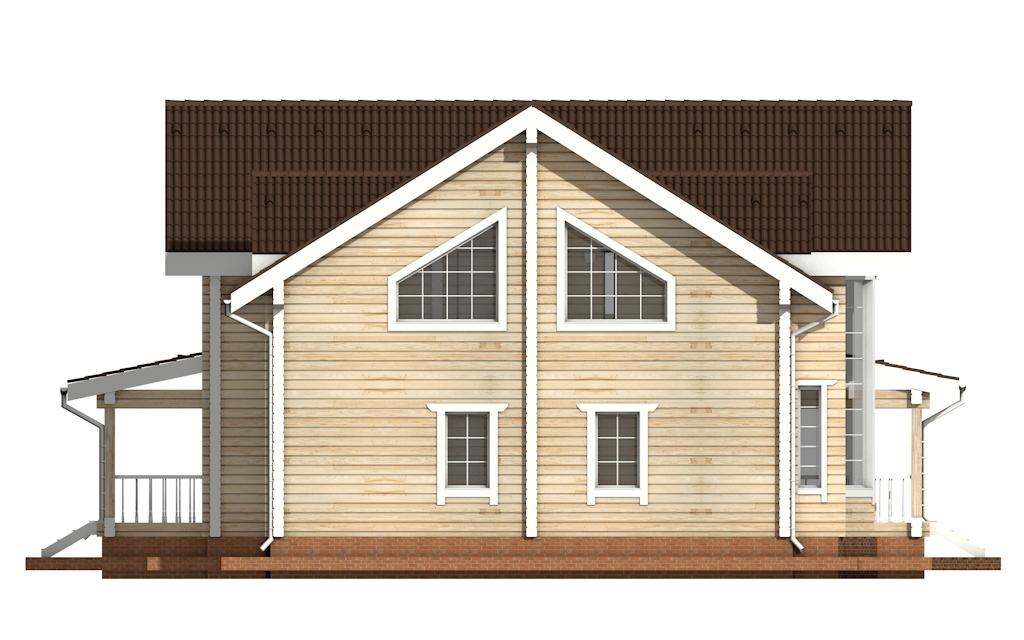 Фото #9: деревянный дом ПДБ-14 из клееного бруса купить за 13633000 (цена «Под ключ»)