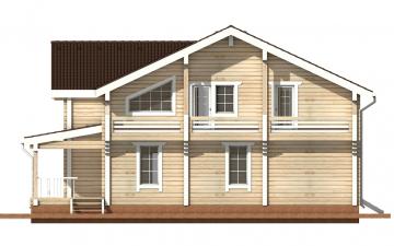 Фото #10: деревянный дом ПДБ-15 из клееного бруса купить за 17296000 (цена «Под ключ»)
