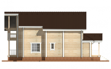 Фото #10: деревянный дом ПДБ-16 из клееного бруса купить за 12169000 (цена «Под ключ»)