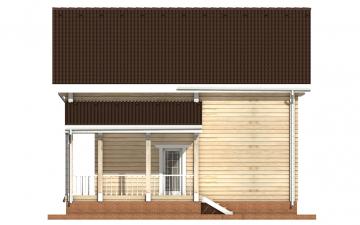 Фото #10: деревянный дом ПДБ-17 из клееного бруса купить за 10487000 (цена «Под ключ»)