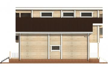 Фото #10: деревянный дом ПДБ-18 из клееного бруса купить за 15318000 (цена «Под ключ»)