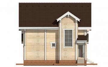 Фото #10: деревянный дом ПДБ-2 из клееного бруса купить за 11081000 (цена «Под ключ»)