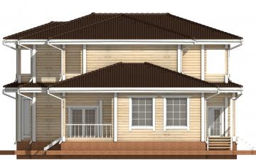 Фото #10: деревянный дом ПДБ-20 из клееного бруса купить за 15868000 (цена «Под ключ»)