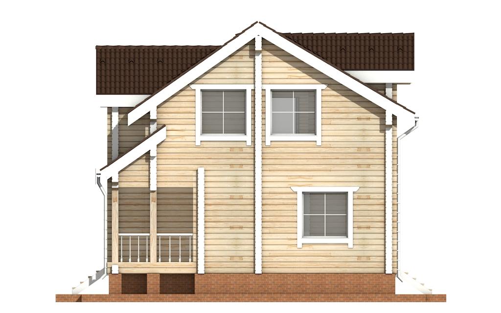 Фото #9: деревянный дом ПДБ-21 из клееного бруса купить за 9469000 (цена «Под ключ»)