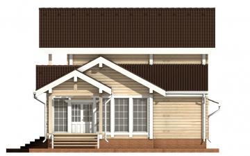 Фото #10: деревянный дом ПДБ-22 из клееного бруса купить за 11225000 (цена «Под ключ»)