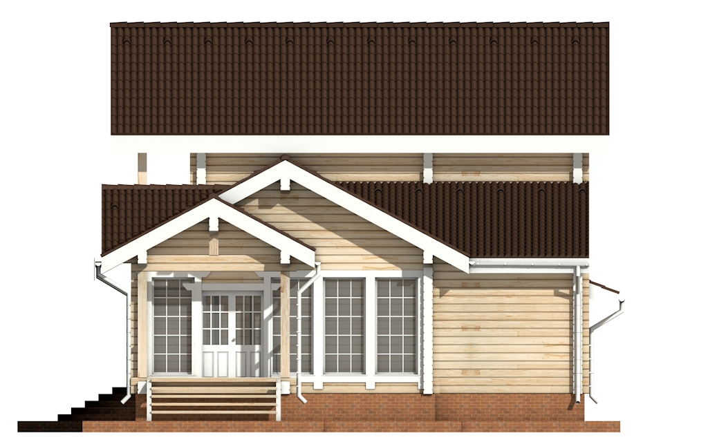 Фото #9: деревянный дом ПДБ-22 из клееного бруса купить за 11225000 (цена «Под ключ»)