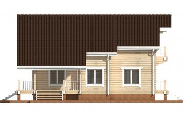 Фото #10: деревянный дом ПДБ-23 из клееного бруса купить за 11107000 (цена «Под ключ»)