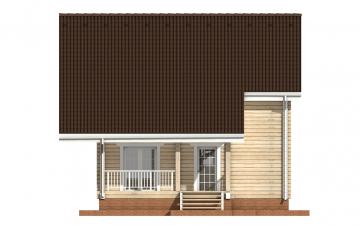 Фото #10: деревянный дом ПДБ-27 из клееного бруса купить за 8343000 (цена «Под ключ»)
