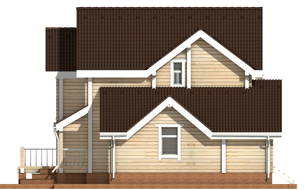 Фото #9: деревянный дом ПДБ-28 из клееного бруса купить за 10822000 (цена «Под ключ»)