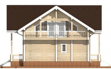 Фото #10: деревянный дом ПДБ-29 из клееного бруса купить за 12475000 (цена «Под ключ»)