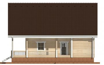 Фото #10: деревянный дом ПДБ-30 из клееного бруса купить за 10828000 (цена «Под ключ»)