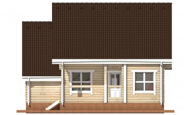 Фото #10: деревянный дом ПДБ-1 из клееного бруса купить за 9637000 (цена «Под ключ»)