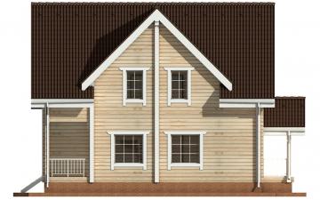Фото #10: деревянный дом ПДБ-4 из клееного бруса купить за 10471000 (цена «Под ключ»)