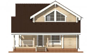 Фото #10: деревянный дом ПДБ-5 из клееного бруса купить за 11075000 (цена «Под ключ»)