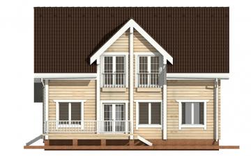 Фото #10: деревянный дом ПДБ-6 из клееного бруса купить за 10588000 (цена «Под ключ»)
