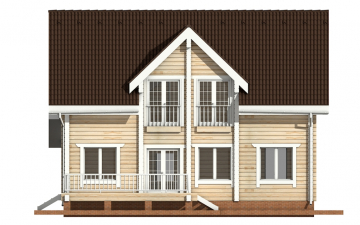 Фото #10: деревянный дом ПДБ-7 из клееного бруса купить за 10436000 (цена «Под ключ»)