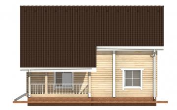Фото #10: деревянный дом ПДБ-8 из клееного бруса купить за 11035000 (цена «Под ключ»)
