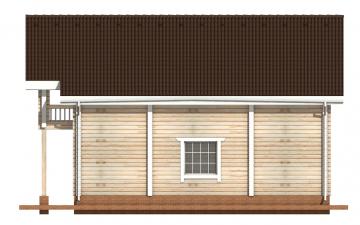 Фото #10: деревянный дом ПДБ-9 из клееного бруса купить за 10234000 (цена «Под ключ»)