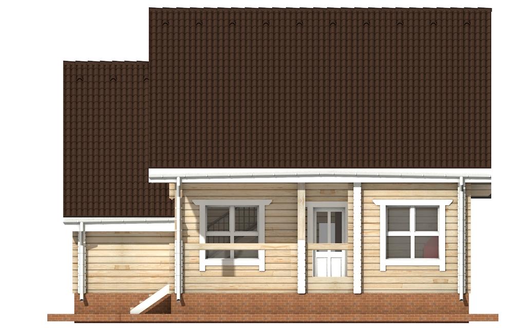Фото #9: деревянный дом ПДБ-1 из клееного бруса купить за 9637000 (цена «Под ключ»)