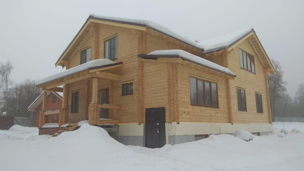 Фото: Дом из клеёного бруса в д. Ферзиково Калужской области
