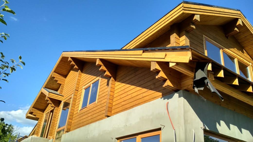 Фото: Комбинированный дом из клеёного бруса в Самаре