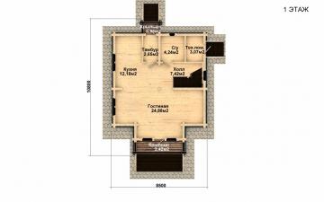 Фото #4: деревянный дом ПДБ-32 из клееного бруса купить за 6195000 (цена «Под ключ»)