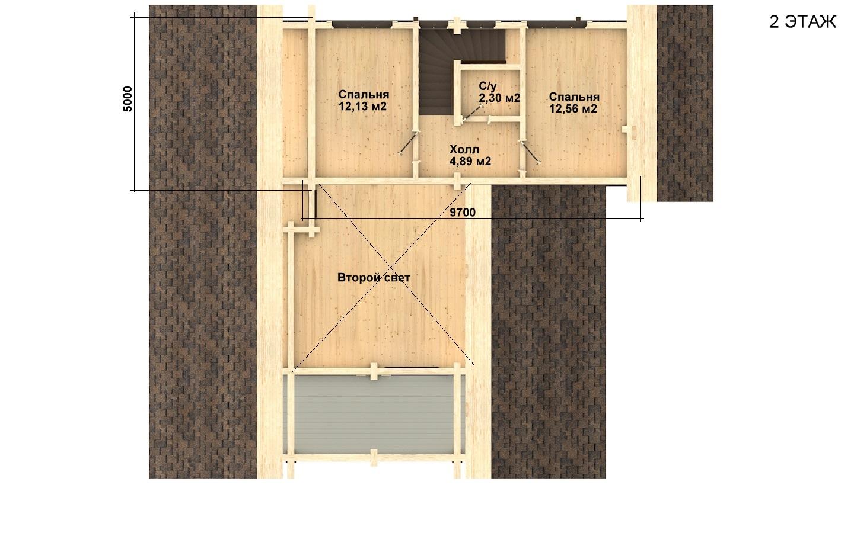 Фото #5: деревянный дом ПДБ-19 из клееного бруса купить за 11807000 (цена «Под ключ»)