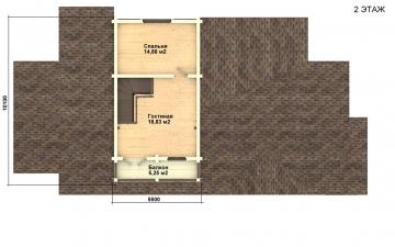 Фото #3: деревянный дом ПДБ-22 из клееного бруса купить за 11225000 (цена «Под ключ»)