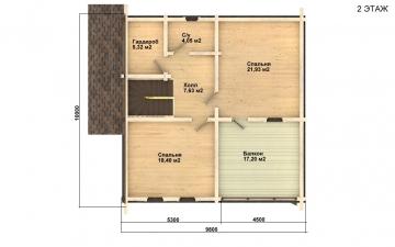 Фото #5: деревянный дом ПДБ-3 из клееного бруса купить за 9321000 (цена «Под ключ»)