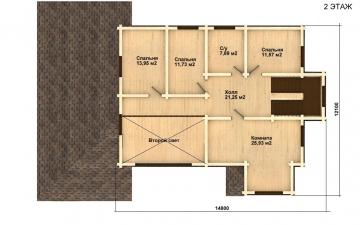 Фото #5: деревянный дом ПДБ-24 из клееного бруса купить за 14757000 (цена «Под ключ»)