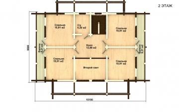 Фото #5: деревянный дом ПДБ-29 из клееного бруса купить за 12475000 (цена «Под ключ»)