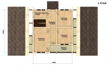 Фото #3: деревянный дом ПДБ-10 из клееного бруса купить за 10753000 (цена «Под ключ»)