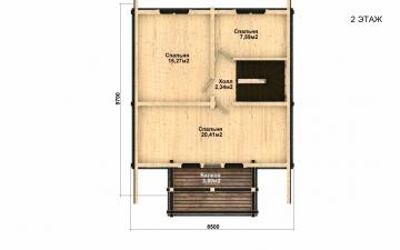 Фото #5: деревянный дом ПДБ-32 из клееного бруса купить за 6195000 (цена «Под ключ»)