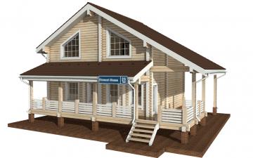 Фото #1: деревянный дом ПДБ-25 из клееного бруса купить за 9255000 (цена «Под ключ»)