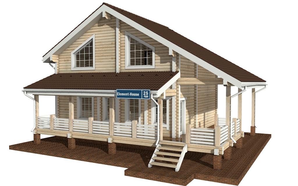 ПДБ-25 - деревянный дом из клееного бруса