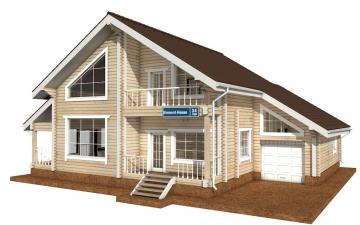 Фото #1: деревянный дом ПДБ-34 из клееного бруса купить за 13915000 (цена «Под ключ»)